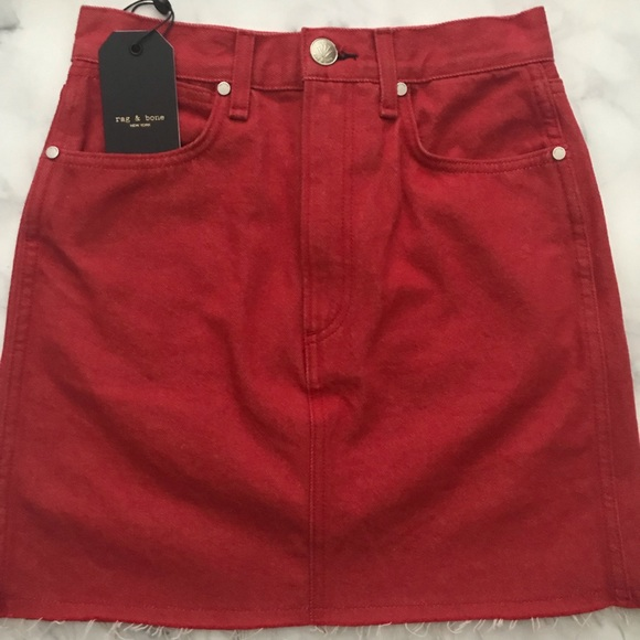 3c03b4fe7f rag & bone Skirts | Rag Bone Moss Skirt In Bull Red | Poshmark